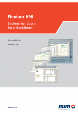 Flexium HMI - Bedienerhandbuch Zusatzfunktionen