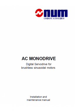 AC MONODRIVE - Digital Servodrive for brushless sinusoidal motors