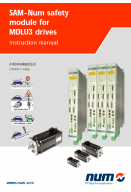 Instruction manual SAM-NUM safety module for MDLU3 drives