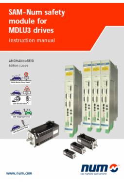 Benutzerhandbuch SAM-NUM Sicherheitsmodul für MDLU3 Antriebe