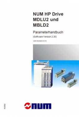 Parameters manual Num HP Drive MDLU2 and MBLD2