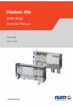 Flexium I/Os - XI/ON RS232, Operator Manual