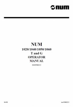 CNC Num - Bedienerhandbuch T/G