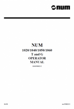 Num CNC Operator Manual T/G