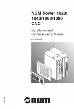 NUM Power 1020-1040-1060-1080 - Installations- und Inb