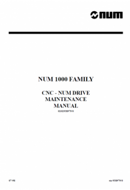 CNC - NUM Drive Maintenance Manual