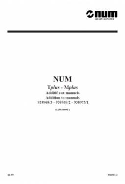 Zusatz zu den Bedienerhandbüchern Tplus und Mplus