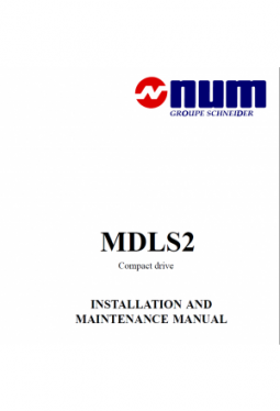 MDLS2 Compact drive - Installation and maintenance manual