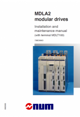 MDLA2 modular drives - Installation and maintenance manual
