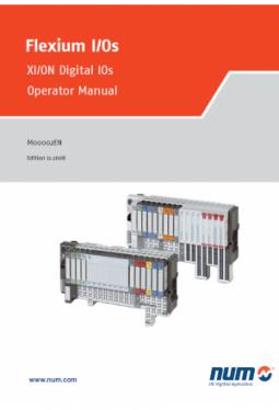 Flexium I/Os - XI/ON Digital IOs, Operator Manual