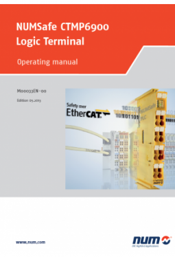 NUMSafe CTMP6900 Logic terminal: Operating manual