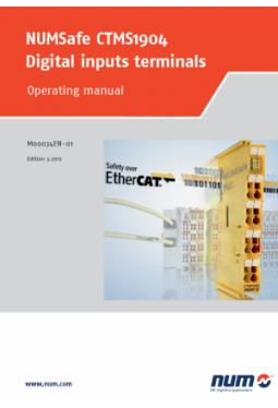 NUMSafe CTMS1904 Digital inputs terminal: Operating manual
