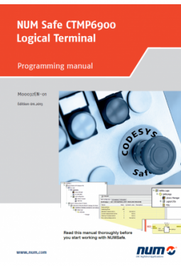 NUMSafe CTMP6900 Logical terminal: Programming manual