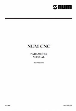 Handbuch Maschinenparameter