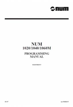 Programming manual M/W