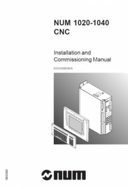 NUM 1020-1040 - Installations- und Inbetriebnahmehandb