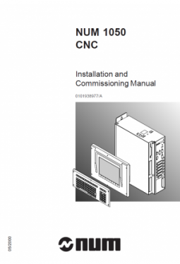 NUM 1050 - Installation and Commissioning Manual