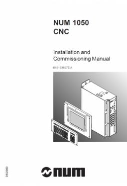 NUM 1050 - Installations- und Inbetriebnahmehandbuch