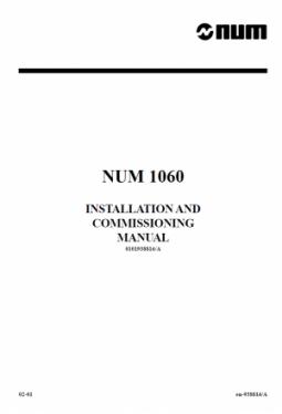 NUM 1060 - Installations- und Inbetriebnahmehandbuch