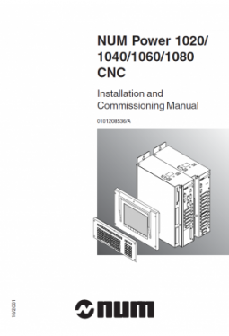 NUM Power 1020-1040-1060-1080 - Installation and Commi