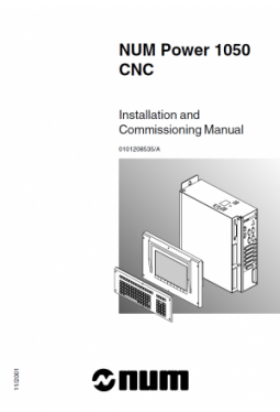 NUM Power 1050 - Installation and Commissioning Manual