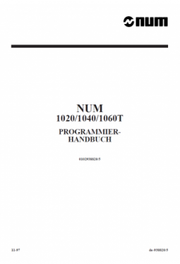 Programming manual T/G