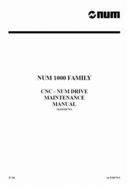 CNC und NUM Drive - Wartungshandbuch