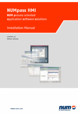 NUMpass HMI - Installation Manual