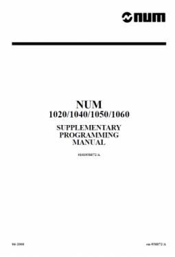 Supplementary Programming Manual